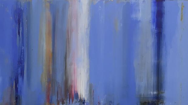 «Sin título» (2017), óleo sobre «dibond» en la galería Álvaro Alcázar