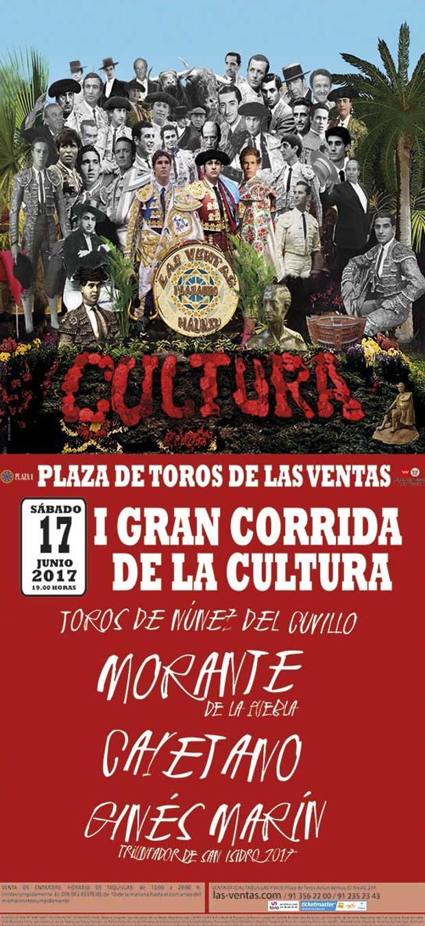 Resultado de imagen de CARTEL CORRIDA DE LA CULTURA LAS VENTAS