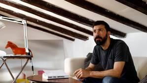 Calderón en su estudio-buhardilla