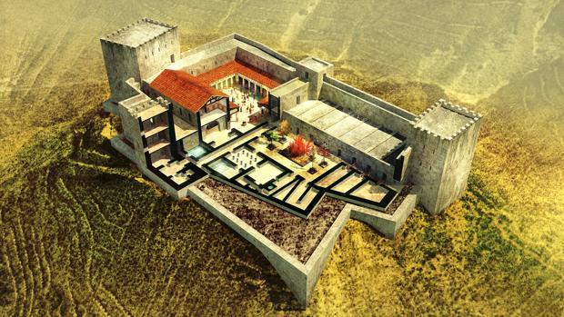 Reconstrucción de la fortaleza de Maqueronte