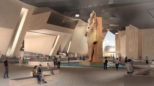 Recreación virtual del interior del Gran Museo Egipcio