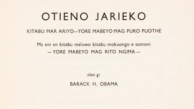 Hoy salen a subasta los únicos libros escritos por el padre de Obama