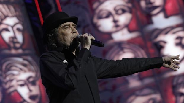 Joaquín Sabina, en su concierto de junio en La Cartuja