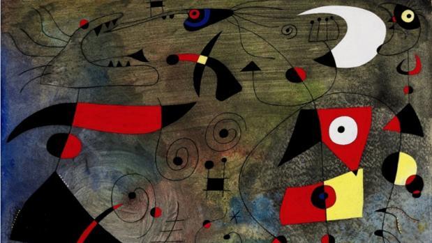 «Femme et oiseaux», de Joan Miró