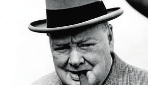 Wiston Churchill en una foto de archivo