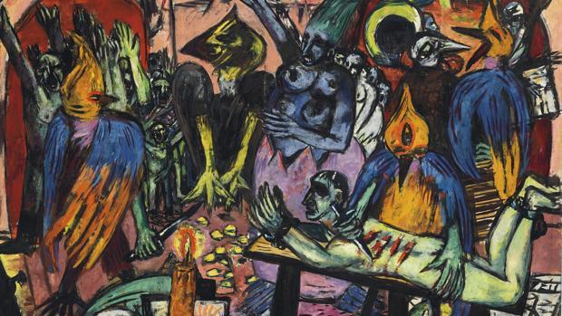 «El infierno de los pájaros», de Max Beckmann