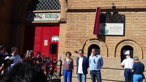 La alcaldesa de Teruel pide respeto para el toreo en el homenaje a Víctor Barrio
