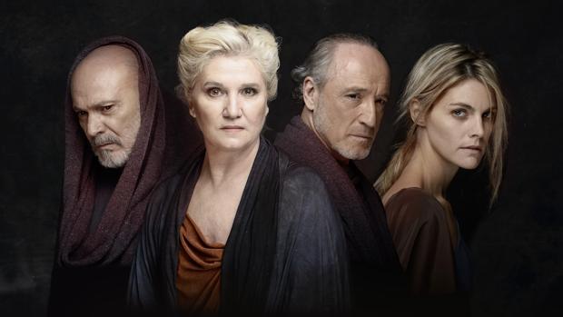 Juan Fernández, Ana Wagener, Roberto Álvarez y Amaia Salamanca, protagonistas de «La Orestíada»
