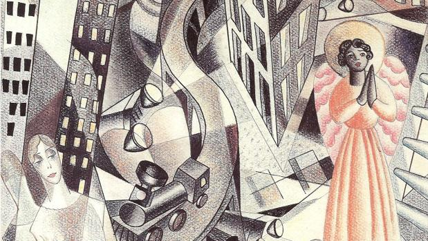 «Estampa cinemática» (1927), obra de Maruja Mallo
