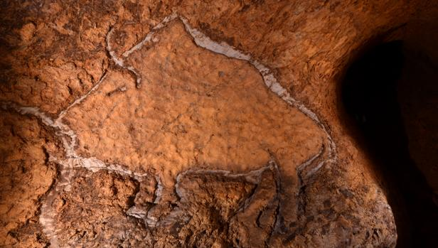 Una de las pinturas halladas en Rentería