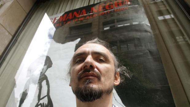 David Llorente, hoy en Gijón, tras conocer la noticia