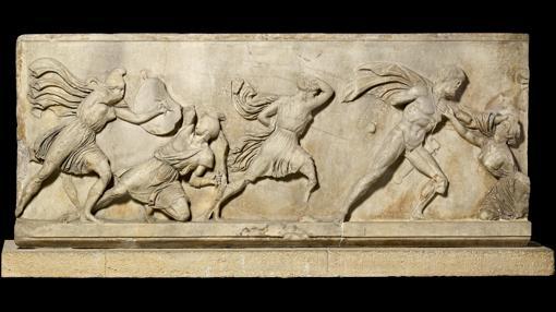 Parte de un friso del Mausoleo de Halicarnaso, una de las siete maravillas del mundo antiguo