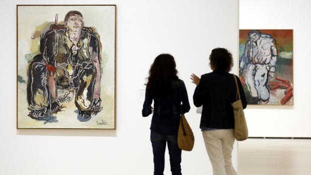 Dos de los «Héroes» de Baselitz, en el Guggenheim de Bilbao