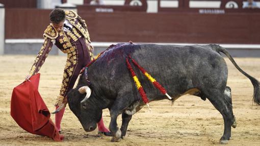 Tibo García, en un derechazo