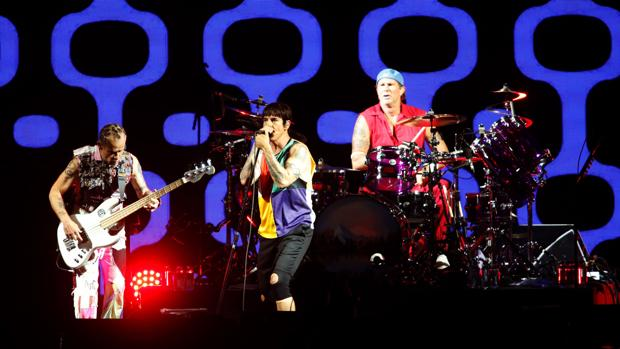 Red Hot Chili Peppers, durante su concierto el sábado en el FIB