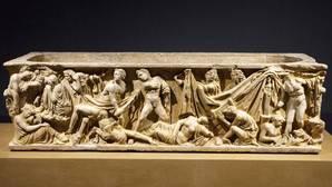 Detalle del Sarcófago de Husillos