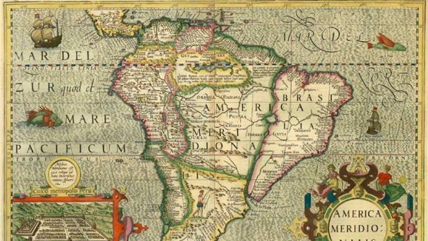 Mapa de América de 1630 (Henricus Hondius)