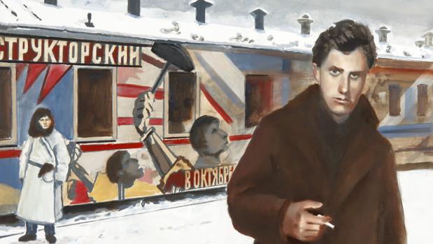 Mayakovski en Moscú, obra de Damián Flores
