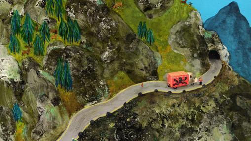 Ilustración de la publicación «Strange Mountain»