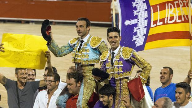 Enrique Ponce y Alejandro Talavante, el pasado año en el Coliseo balear
