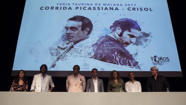 Presentación en el Museo Picasso de Málaga de la corrida Crisol