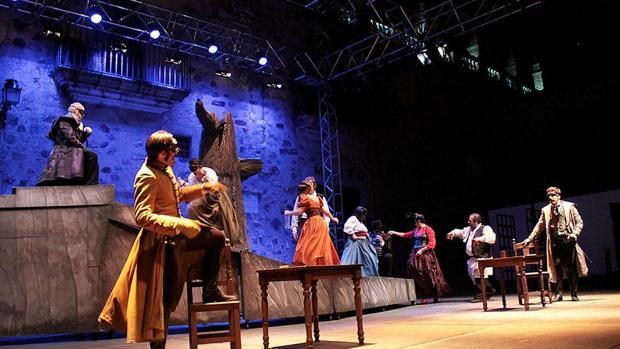 Escena de «Don Juan Tenorio»