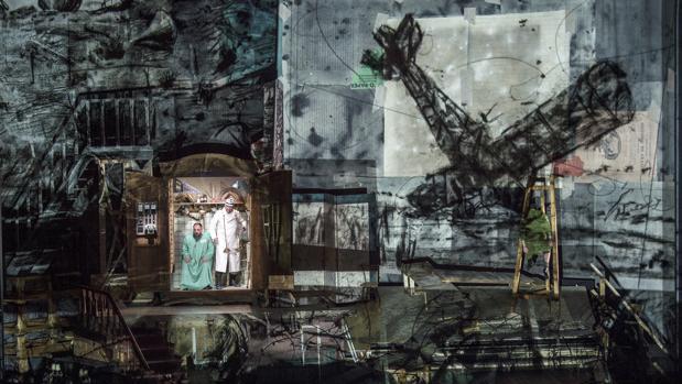 Muestra del trabajo de William Kentridge que acompaña a la ópera de Alban Berg