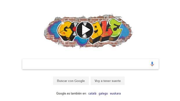 La página de inicio de Google en su homenaje al hip hop