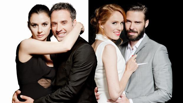 Miren Ibarguren, Daniel Guzmán, María Castro y Álex Barahona
