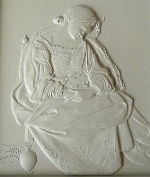 Detalle de una de las obras expuestas en «Contacto»