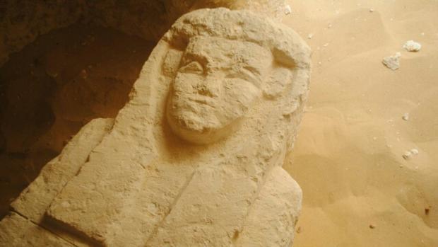 Uno de los sarcófagos encontrados