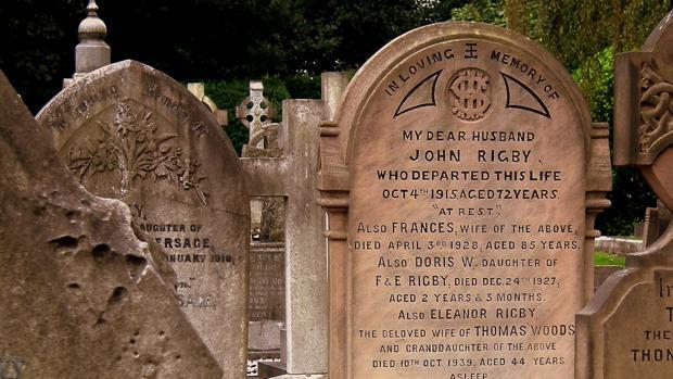 La tumba de Eleanor Rigby en el cementerio de San Pedro, en Liverpool