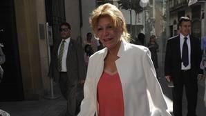 La baronesa Thyssen, fotografiada en Málaga