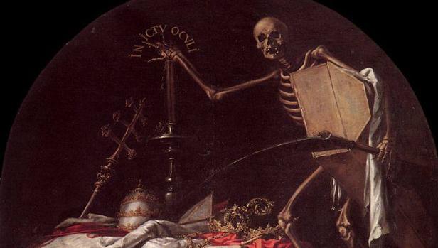 Detalle de «In Ictu Oculi» (1961), de Valdés Leal, en el Hospital de Caridad de Sevilla