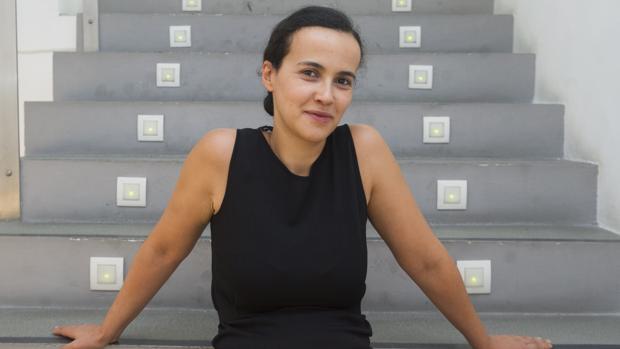 Sabrina Amrani en su galería en Madrid