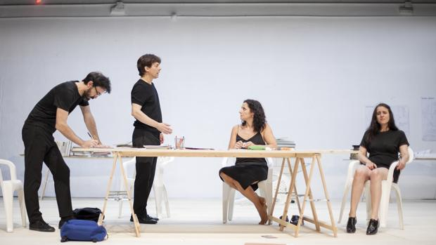 Israel Elejalde, Jesús Noguero, María Morales y Fernanda Orazi