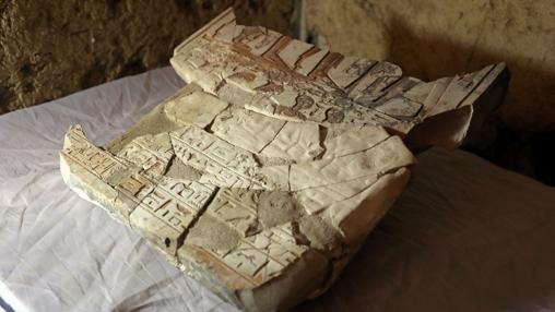 Una de las piezas encontradas en Luxor