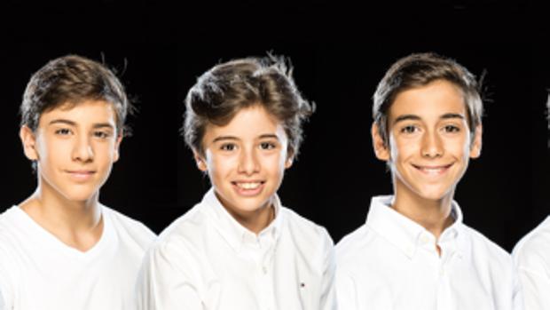 Tres de los seis niños que representarán a Billy Eliot en el musical que se estrena el 5 de octubre en Madrid