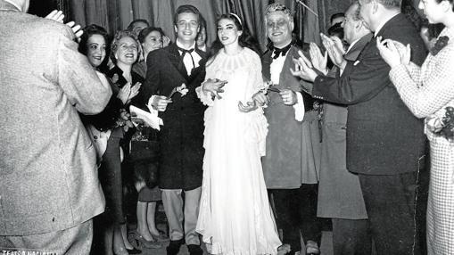 «La traviata» (Lisboa, 1958), con Alfredo Kraus