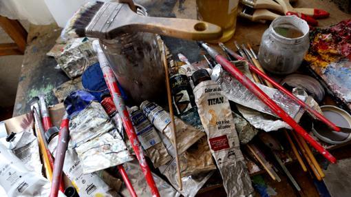 Detalle de los materiales acumulados en el estudio