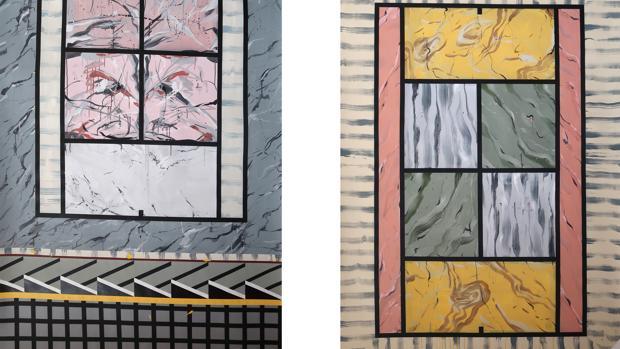 Obras de la serie «En la línea de fondo», de Miki Leal