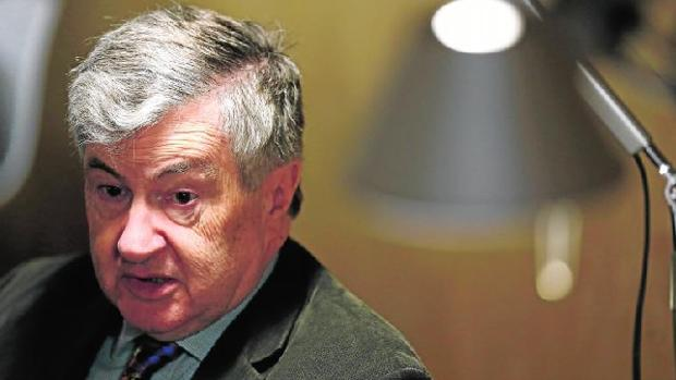Richard Evans, durante la entrevista en el Hotel de las Letras de Madrid