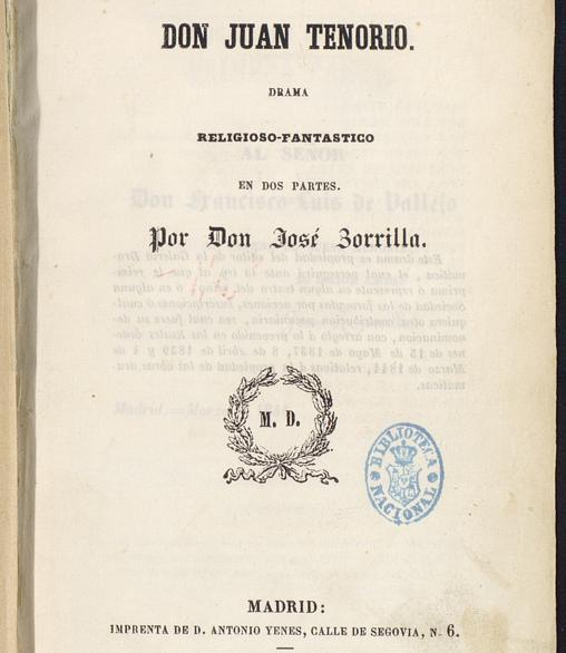 Manuscrito de «Don Juan Tenorio»