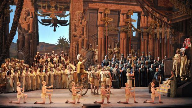 Una escena de la -opera «Aida»