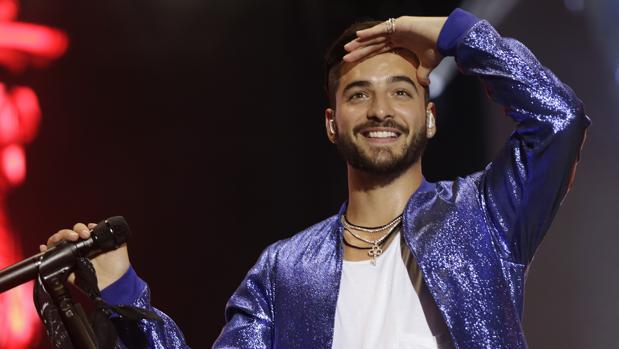 Maluma, durante su concierto en Sevilla el pasado domingo
