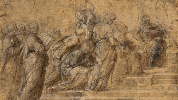 Estudio para «La Disputa del Sacramento» (1509), de Rafael