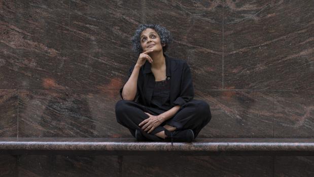 La escritora india Arundathi Rhoy, a su paso por Barcelona