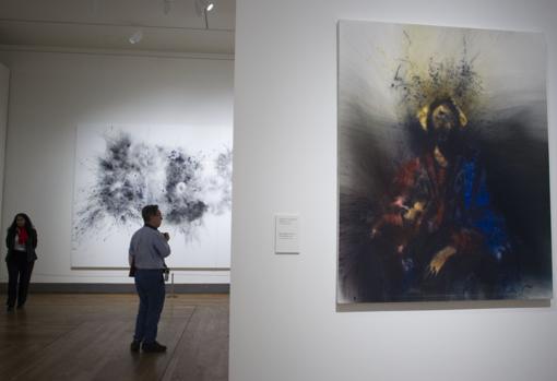 Una de las salas de la exposición de Cai Guo-Qiang en el Prado