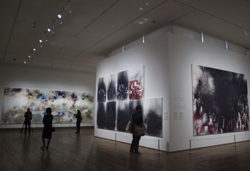 Obras de Cai Guo-Qiang en la sala C del edificio Jerónimos del Prado