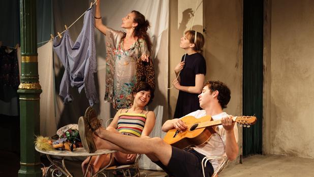 Mona Martínez, Fabia Castro, Anna Castillo y Álex de Lucas, en «La Pilarcita»